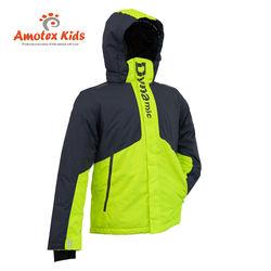 Amotex Custom Logo Windproof Snow Clothing Waterproof Hard Shell Kid Skiwear Ski Jacket