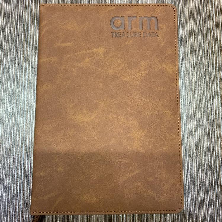 CUSTOMIZED ARM LOGO PU LEATHER HARDCOVER NOTEBOOKS-JONATHAN