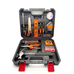 china Household Screwdrivers Spirit level wrench tape measure pliers Static tape Wood Working repairing Hand Tool kit box Sets