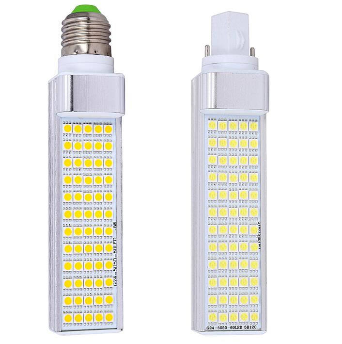 12W LED Light Bulb PL E27 G24 5050 smd 60 LED lamp PLC G24d Corn Light 110V 120V 220V 230V 240V Equal 120V Halogen Lamp