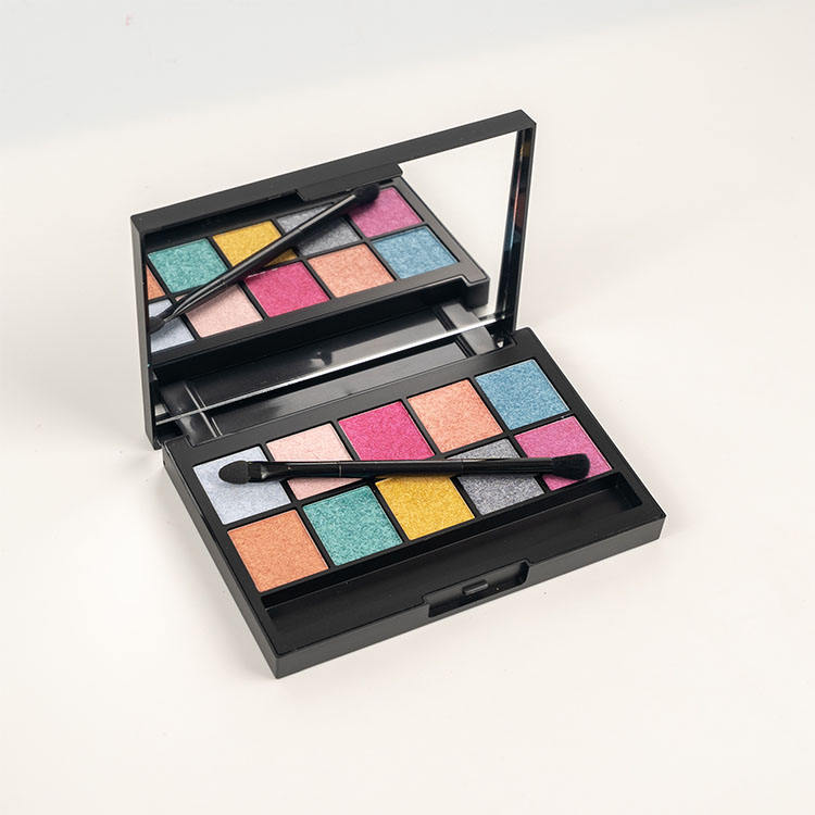 NUOVO commercio all'ingrosso no logo 10 colori private label eyeshadow palette custom <span class=keywords><strong>design</strong></span>