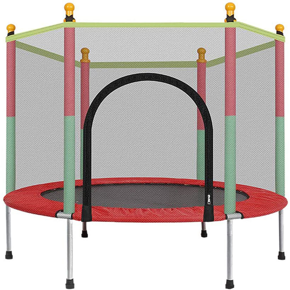 5FT Kids Trampoline With Enclosure Net Jumping Mat, Sports Fitness Games Trampoline For Kids