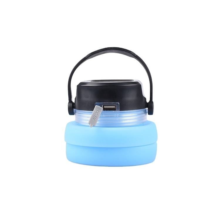 Portable small tent light li-ion outdoor lamp LED mini camping lantern with hook power bank Edible silica gel and solar panel