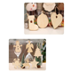 Diy Crafts China DIY Crafts Natural Wood Slices Christmas Tree Ornaments Natural Wooden Decorated Christmas Wreaths