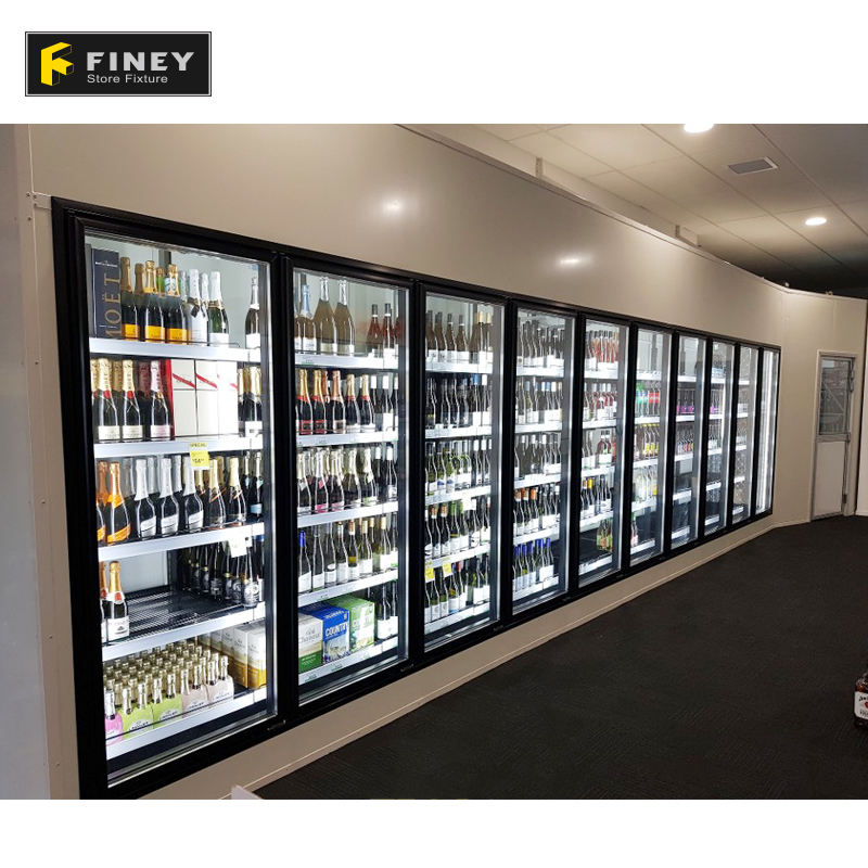 China Supplier Directly Selling High Quality Factory Price Stylish Wine store Glass Cabinet Display