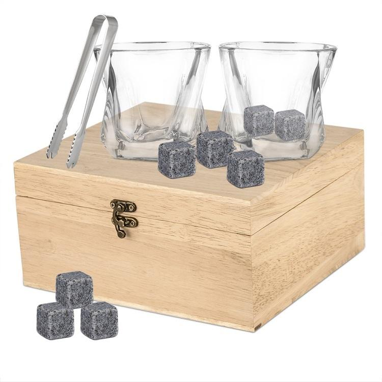 Factory Direct New Product High Quality Whiskey Stones Gift Set Reusable Cooling Ice Cubes
