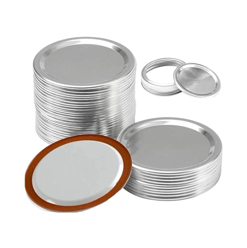 Factory sale 70mm, 86mm Bulk Regular Silver Canning Lids Mason Jar lids
