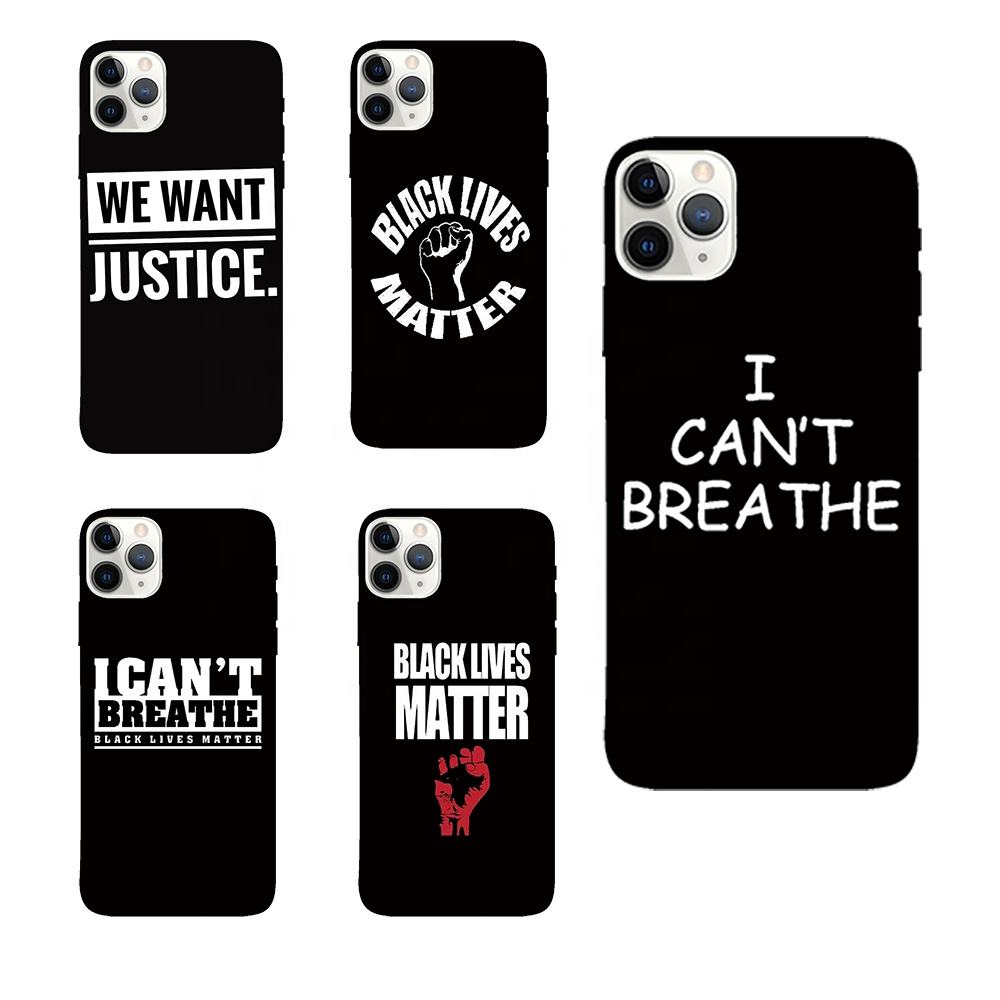 custom black lives matter phone cases print clothes heat transfers for Apple iphone 11 pro max x xr xs max