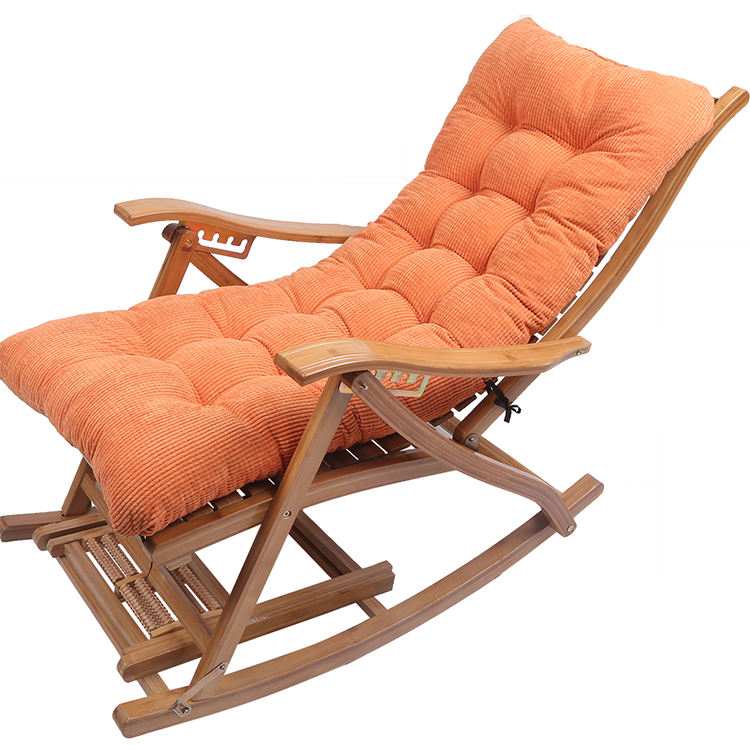 Customize Soft Comfortable Beach Lounge Chair Outdoor Bench Daybed Garden Chair Rocking Chair Recliner Cushion Pillow set