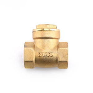 High pressure hydraulic brass check valve with low cost