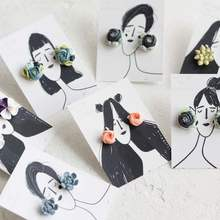 Latest Modern DIY Creative Fashion Especial Earring Paper Card, Customized Earring Display Card