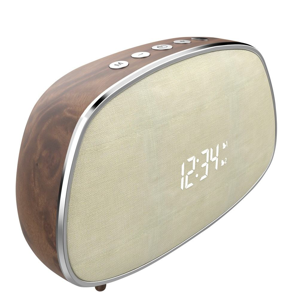 2019 best design fabric speaker bluetooths with alarm clock with portable wireless bluetooths speaker