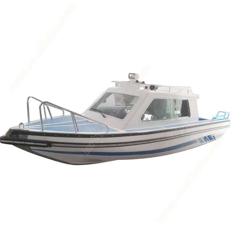 lurky 5.9m fiberglass hull electric speed boat luxury yacht rib fishing boat 8 passenger