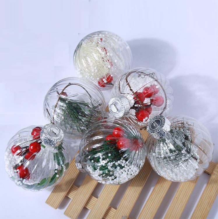 hanging plastic christmas tree baubles balls