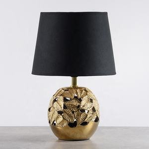 modern ceramic table lamp luxury and china desk lamp with flower pattern