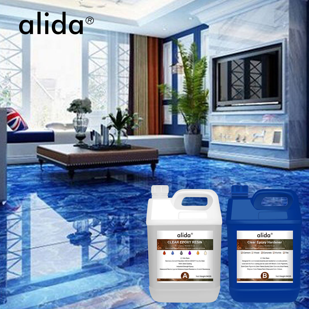 Clear Transparent Epoxy Resin Floor Coating