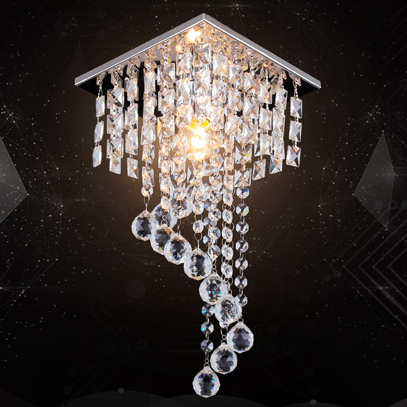 Niodic Design Modern Lights Lustre Chandeliers Crystal Pendant Light Ceiling Lamp Luminaire for Kitchen Hallway Bedroom MC008