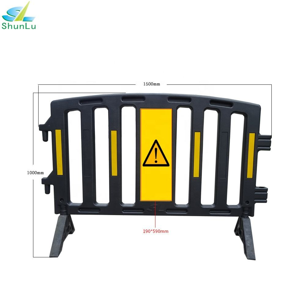 Eco-friendly plastic crowd control car stop barrier