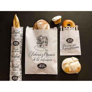 Factory Manufacturer Design Logo Size Bakery Food Printed White Kraft Bread Packaging Paper Bags With Plastic Window