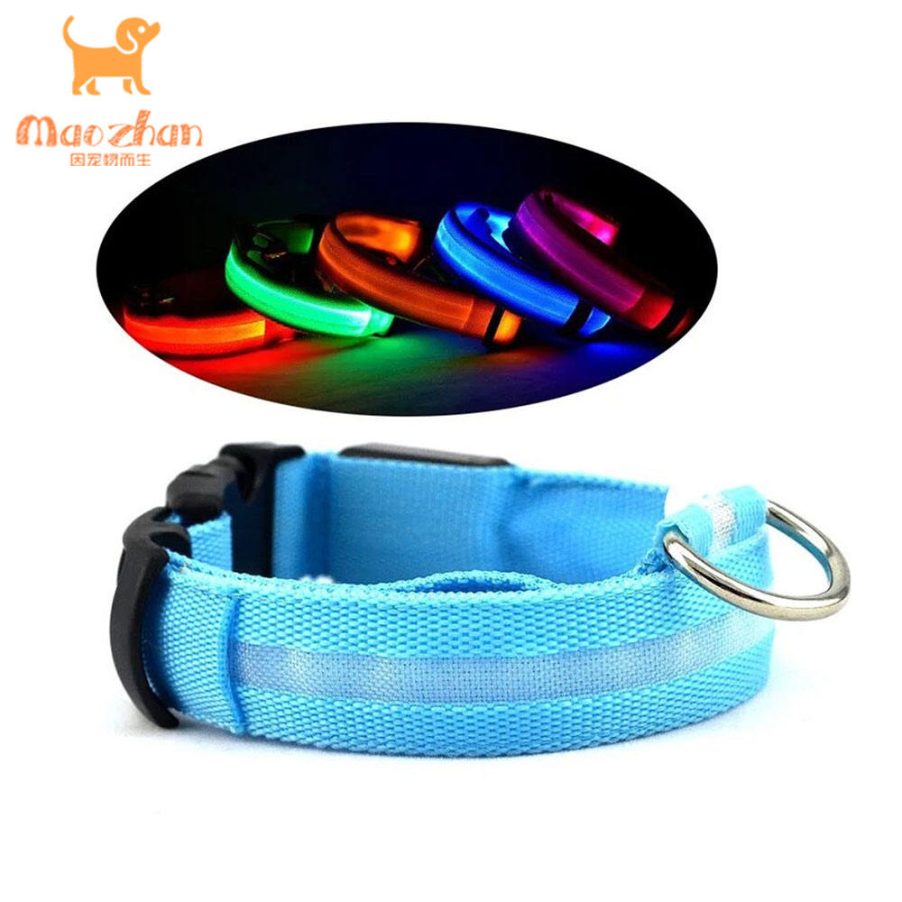 Excellent quality adjustable pet dog collar european leash electronic led