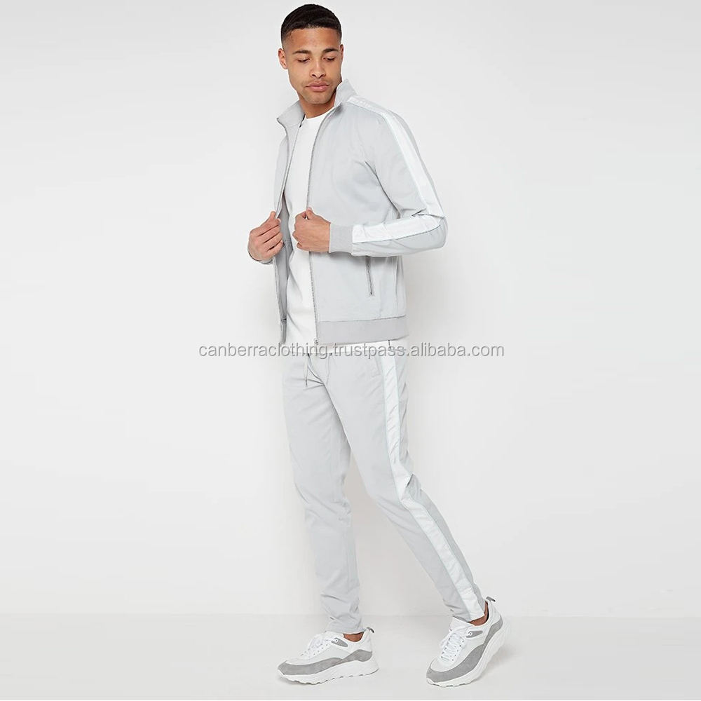 Side stripe Poly Sports Gym Tracksuit buy 50 get 1 free