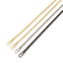 Imported Material Super AA Quality Plating NK Bag Chain Handbag Accessory 2.5mm Wire Golden Metal Purse Strap Chain with Clasps