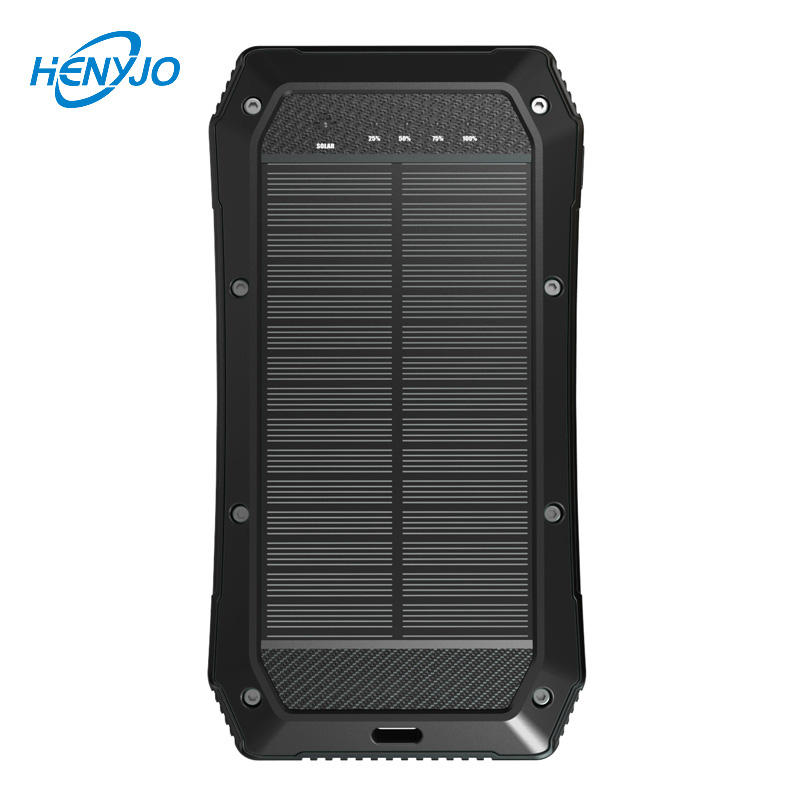 New Products Quick Charge 3.0 Power Bank Solar Powered Phone Charger