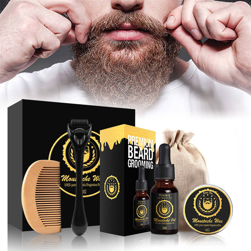 OEM Logo Private Label Organic Scented men Beard Oil Beard Balm Grooming Set For Men Fast Delivery Wholesale Price