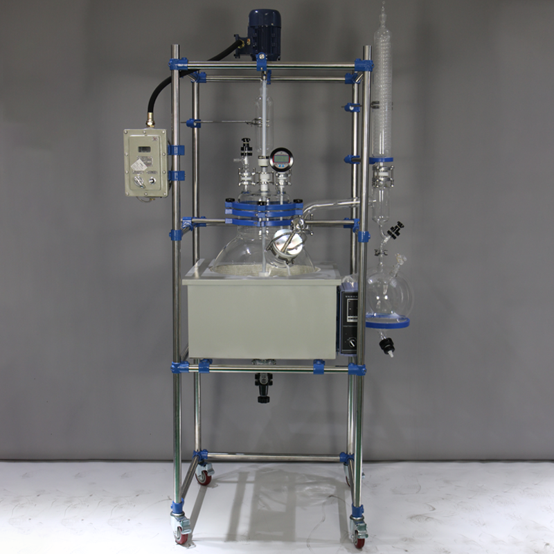 Packaging Customization [ Water Reactor ] Mini Pyrolysis Single-layer Water Bath Heating Glass Reactor For Lab