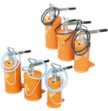 Manual Grease Pump Portable Bucket Lubricator - Lever Action Oil Transfer Pump Dispenser