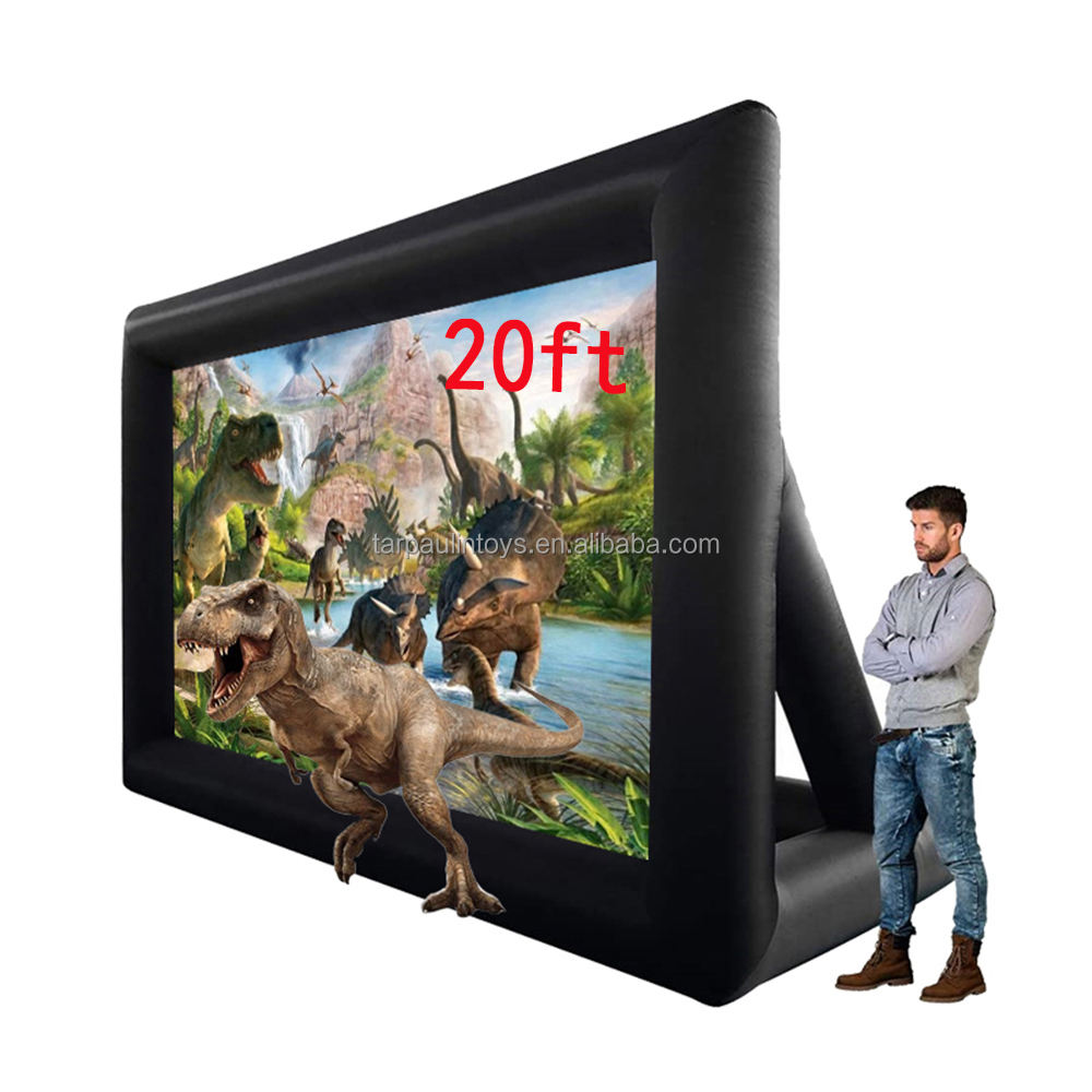 16:9 20Feet Wholesale Movie Screens Rear Projection Cinema Inflatable Screen