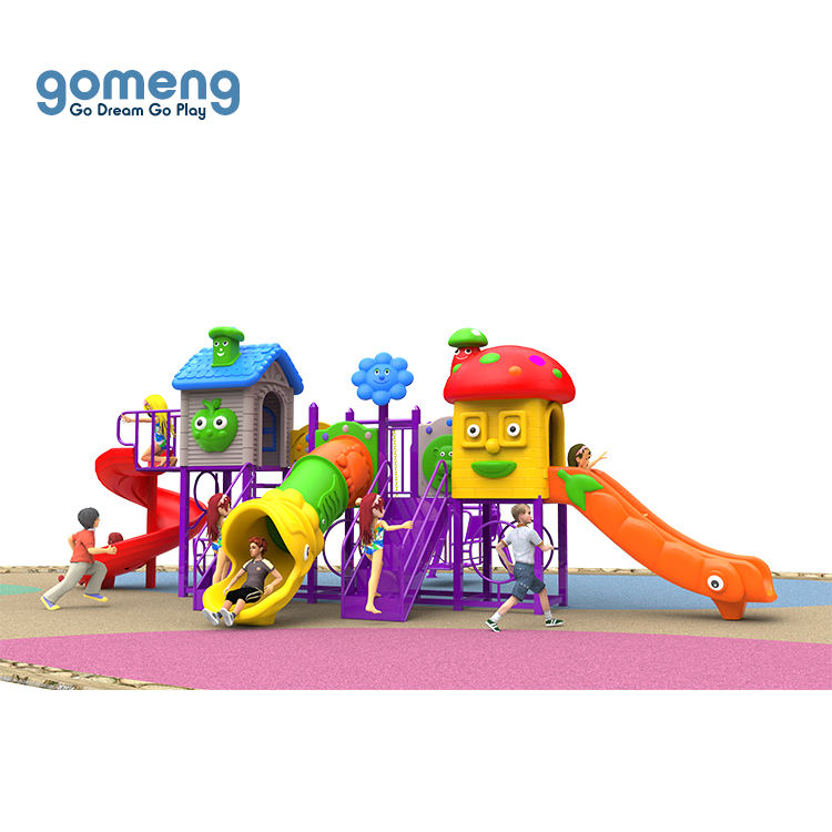 High quality multifunctional children outdoor play area playground wholesale daycare kids plastic slide swing set