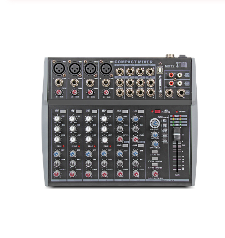 Factory 12 Channel USB Soundcraft Audio Mixer Console Digital For Stage
