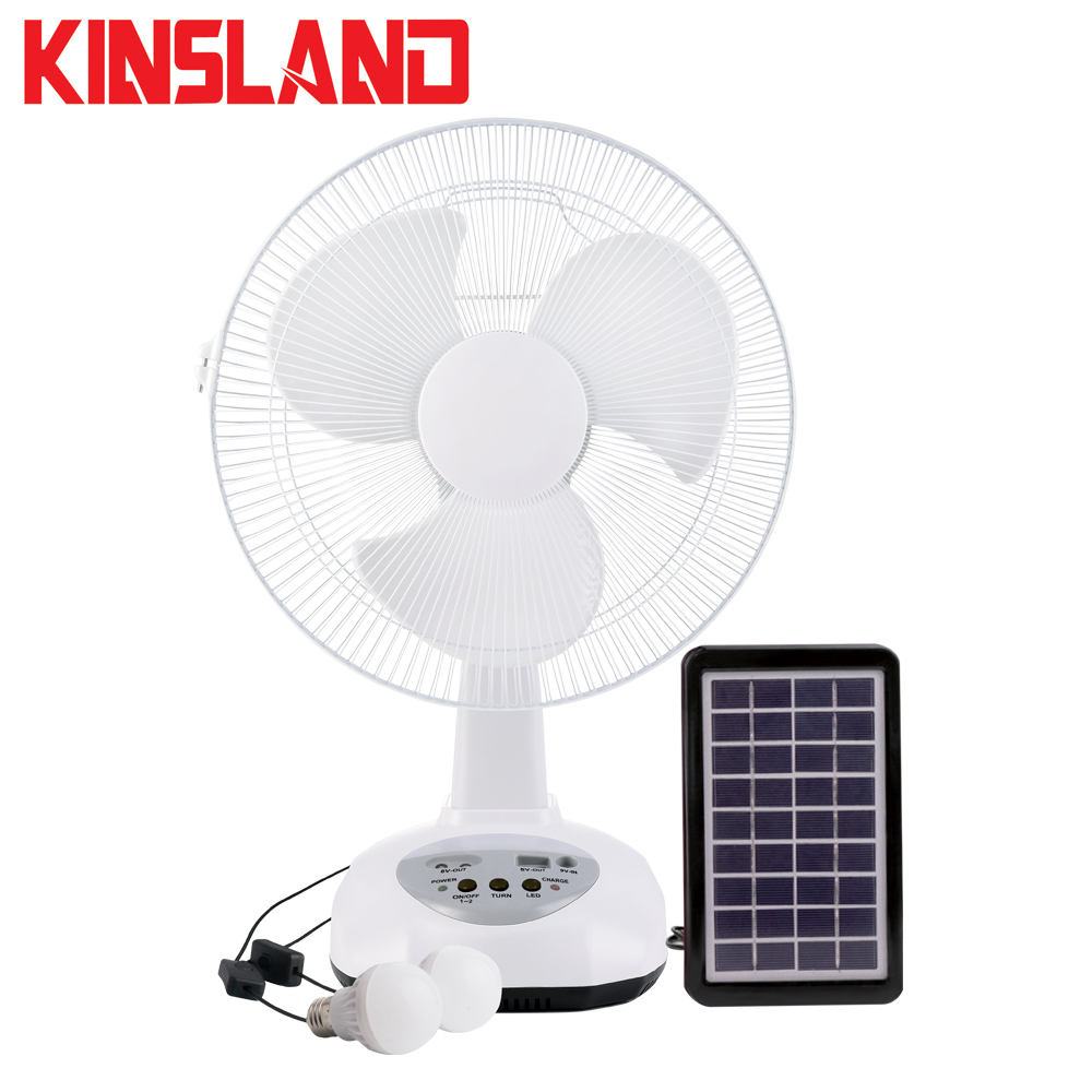 12'' Rechargeable DC Solar Energy Table Fan