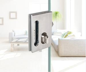 sliding flush door lock for tempered frameless glass door