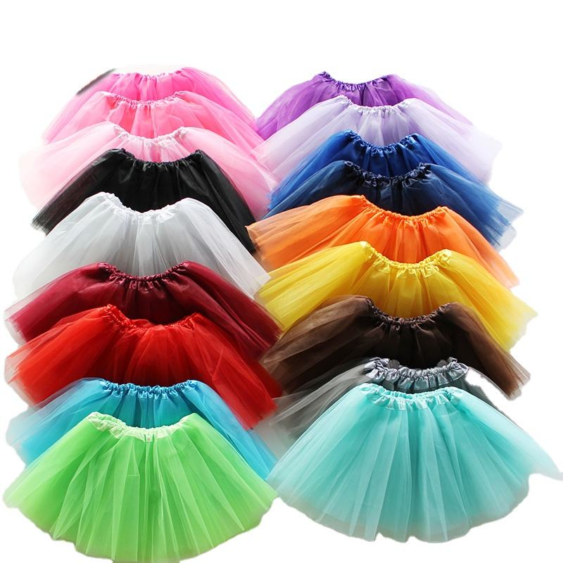 Wholesale Baby Kids Children Girls Princess Dance Ballet Sweet Skirt, 3Layers Tulle Tutu Pettiskirt party tutu girl pettiskirt