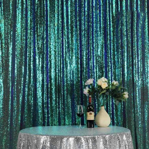 Wholesale Glitz Sequin Valance Backdrop Pipe and Drape For Wedding Decoration Church Backdrop Decoration
