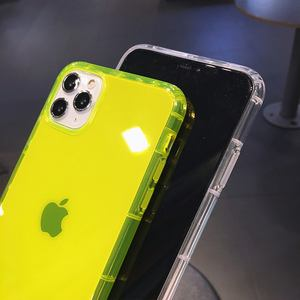 Für iPhone Neon Fall, custom Design Shock Proof Langlebig für iPhone 11 Pro Max XS XR 8 Plus Fundas TPU Leuchtstoff Neon Telefon Fall