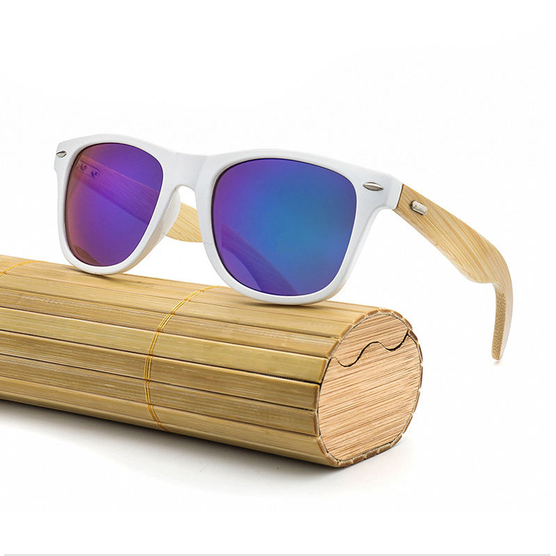 Wholesale Custom Fashion Unisex Recyclable Bamboo PC Eco-friendly Sun Glasses Sunglasses