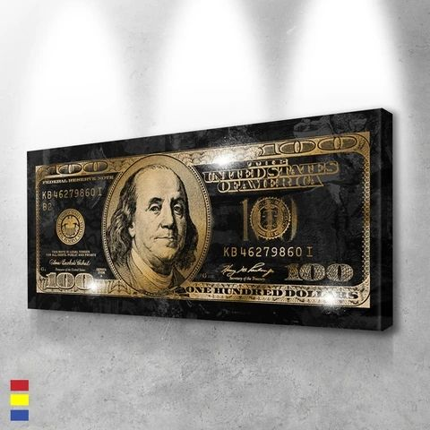 Dollars Series Money Wall Art Pictures And Canvas Painting Print Office Home Decoration Modern Wall Art Oil Painting Poster