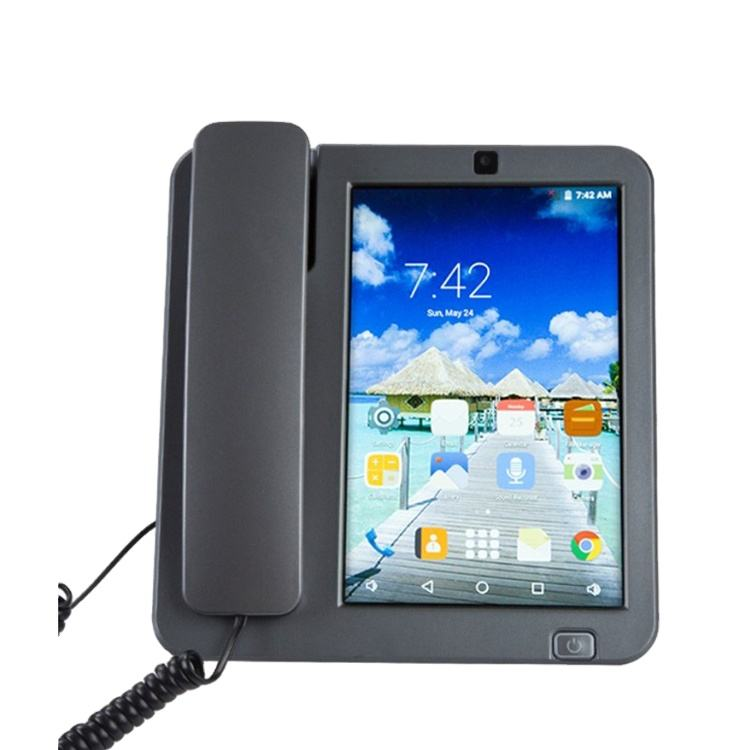KT800 plusのアップデートバージョン3G 4G SIM Card Android Smart Fixed Phone Touch Screen Video Call Telephone With Wifi Phone