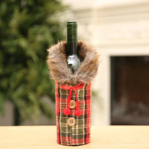 New Year Promotional Factory Wholesale Santa Gift Christmas Wine Bottle Bag