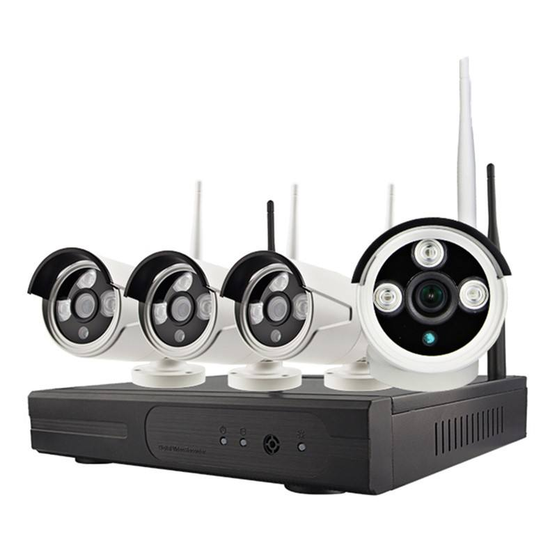 Wireless Security Camera System WiFi kit 720P Camera Night Vision CCTV System high quality
