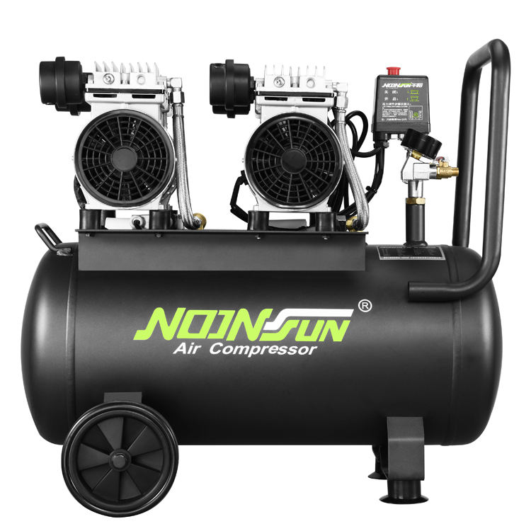 AC Power Air Compressor 1.5KW/2.0HP 50L 120L/Min 1400RPM Piston Portable Air Compressor Mini Industrial Air Compressor