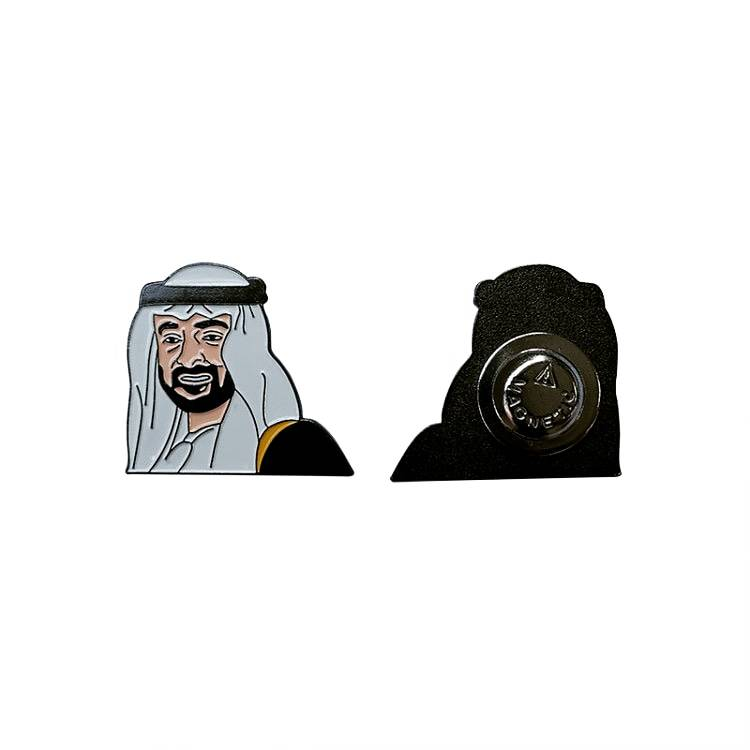 VAE Abu Dhabi Kroonprins Mohammed Bin Zayed Metalen Revers Pin MBZ Badge