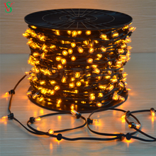 Outdoor Decorative Holiday Party Christmas Tree Light Fancy Colorful String 100m 666leds 12V LED Clip Lights