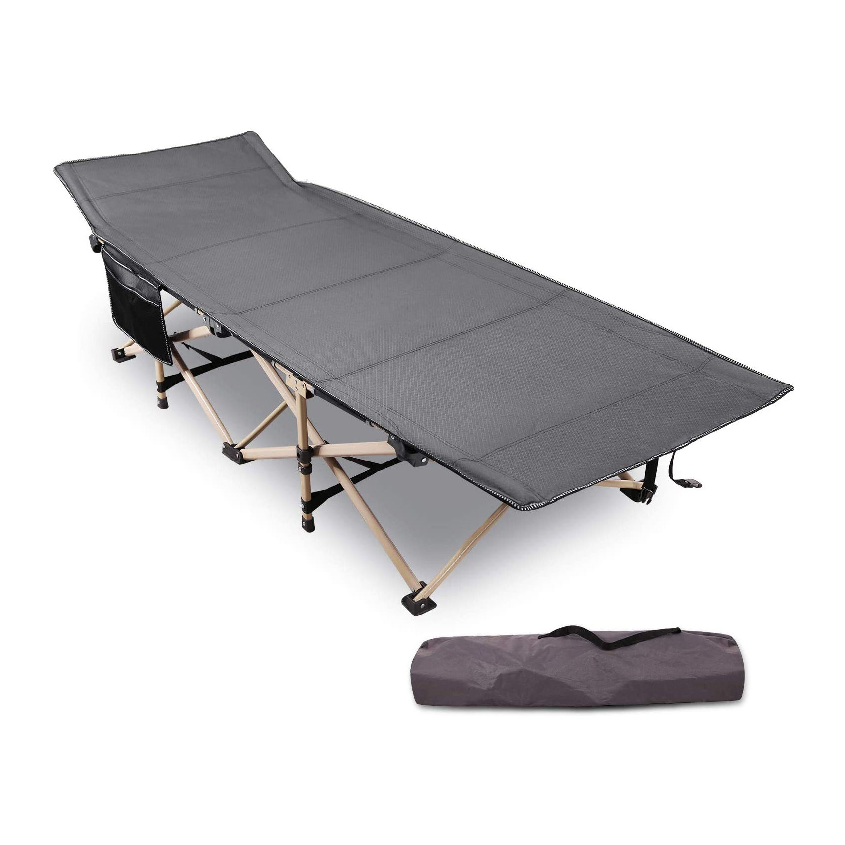 New design outdoor folding cot, potable camping folding bed
