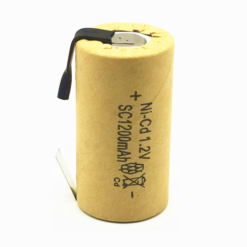 SC Ni CD bateria Rechargeable Battery Sub C Battery SC Ni-Cd Battery 1.2 v with Tab full 1200 mAh for Electric Power Tools