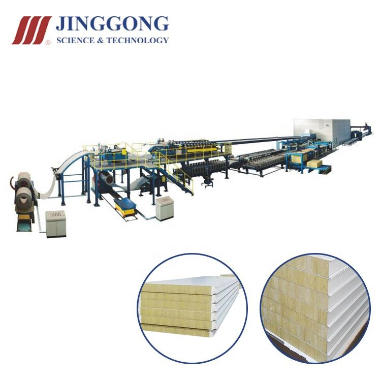 2021 rockwool sandwich panel production line machine for roof sandwich panels