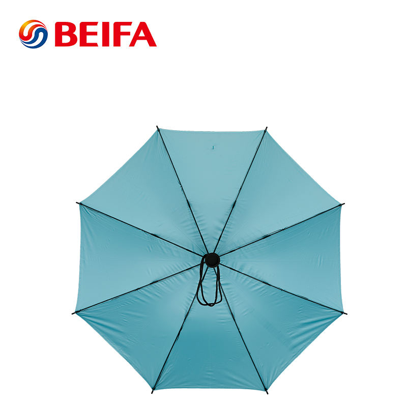 Black Long Automatic Umbrella With Logo Printed